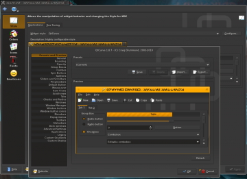 QtCurve settings dialog